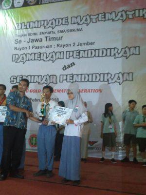 Juara 3 Olimpiade Matematika se Jawa Timur